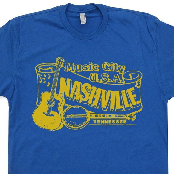 b54dd2a3 Nashville T Shirt Bluegrass Shirt Banjo Shirt Vintage Country | Etsy