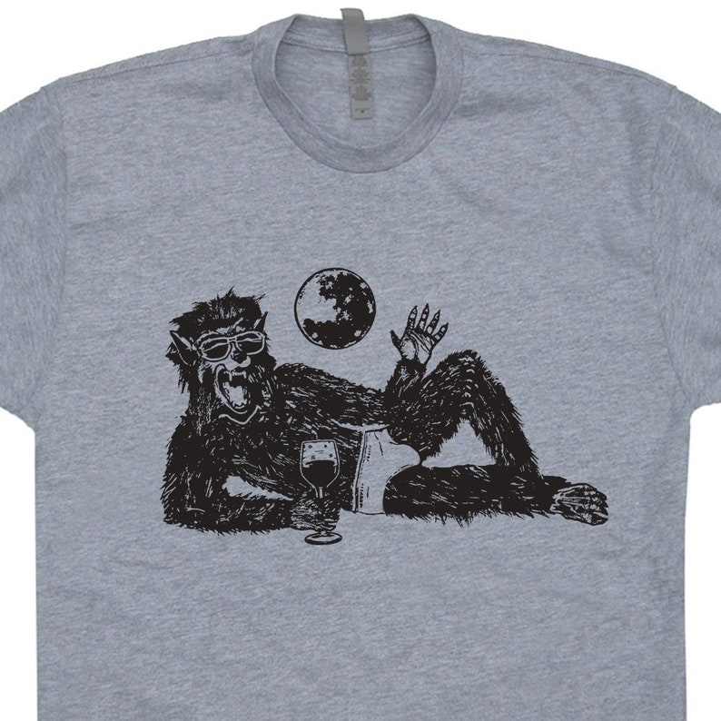 76a2b5853 Wolfman T Shirt Werewolf T Shirt The Wolf Man T Shirt Funny | Etsy