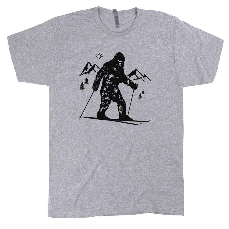 647ef110bd Bigfoot Skiing T Shirt Funny Skier T Shirt Cool Snow Skiing   Etsy