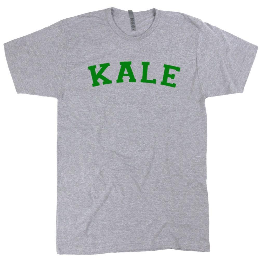 ea88dee474 Kale T Shirt Kale University Shirt Vegetarian Humor Shirts | Etsy