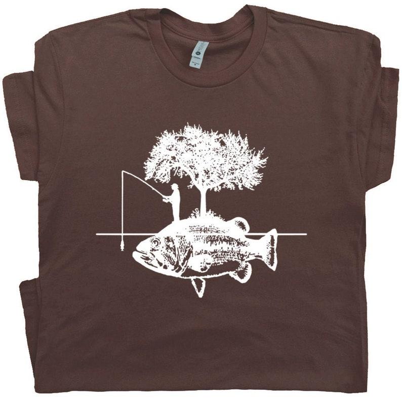 0b880bcd5e5f Fishing Shirt Fisherman T Shirts Cool Funny Fishing Graphic | Etsy