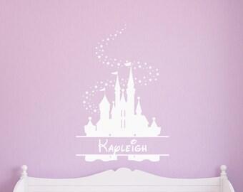 Disney Castle Wall Decal Etsy