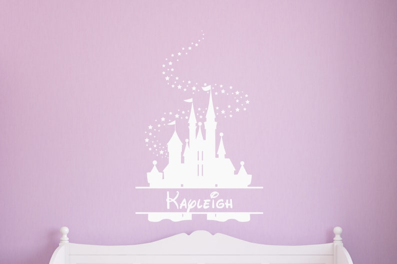 personalized disney castle wall decal vinyl wall art for | etsy