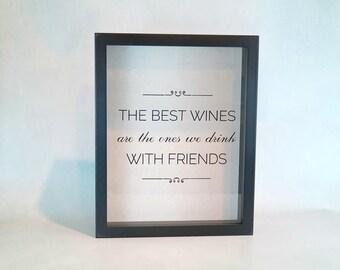 Wine Cork Holder Box | Shadow Box TOP LOADING | The Best Wines | Wine Cork Box | Wedding Gift | Hostess Gift | Wine Lover | Kitchen Decor