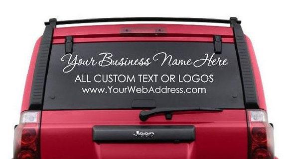 custom car window decals business logos custom business etsy