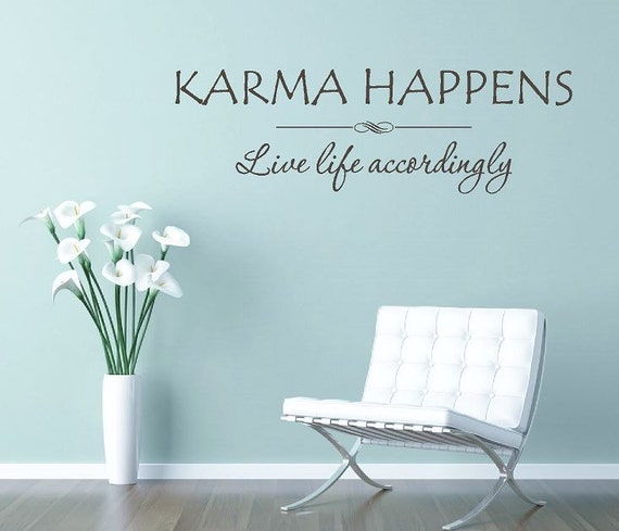 Buddha Zitat Karma Geschieht Entsprechend Leben Wandtattoo Wand Kunst Karma Zitat Vinyl Schriftzug Lustige Phrase Ce68