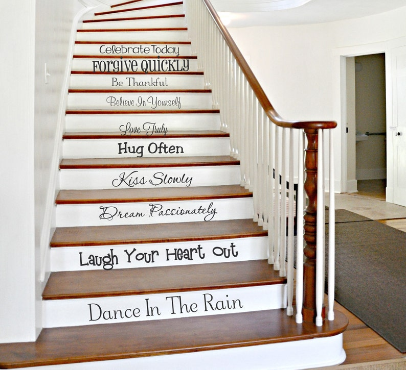 Family Stair Decals | We Do Stairway Decals | Stair Riser Decals |  Staircase Decor | In This House | Vinyl Lettering | Wall Art CE108