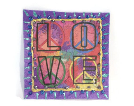 Hippie Love Applique
