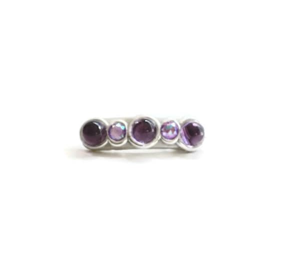 Sparkly Amethyst Purple Mini Hair Clips