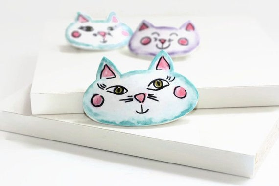 Blue Kitty Clip - Medium