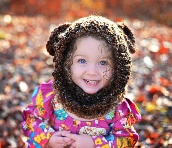 Warm & Cozy Soft Brown Bear Hood