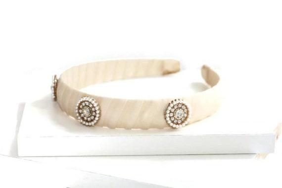 Romantic Jeweled Ivory Headband