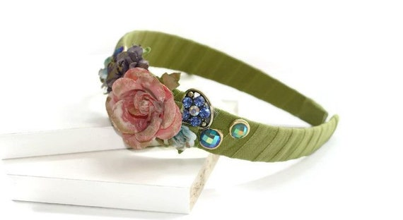 Romantic Floral Crown Headband