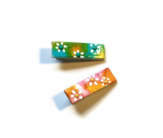 Color Splash Daisy Snap Clips