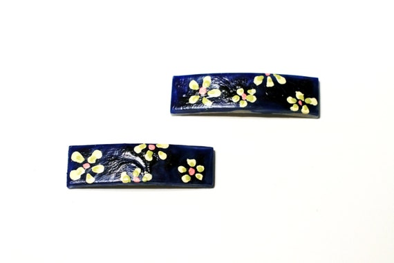 Mini Hand Painted Daisy Hair Clips