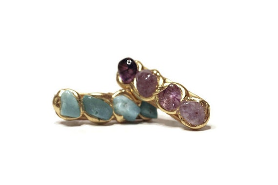 Purple Quartz Natural Stone Mini Hair Clip, Barrettes with Semi Precious Stones, Jewelry for Your Hair