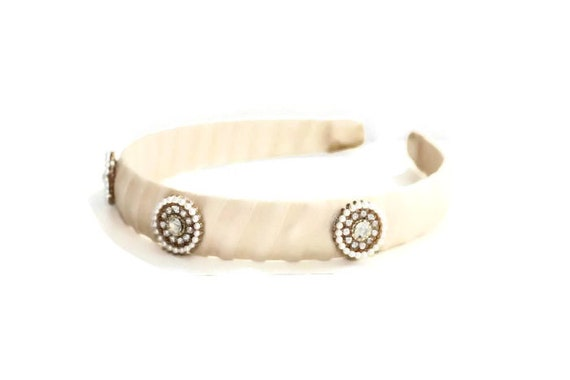 Romantic Jeweled Ivory Headband