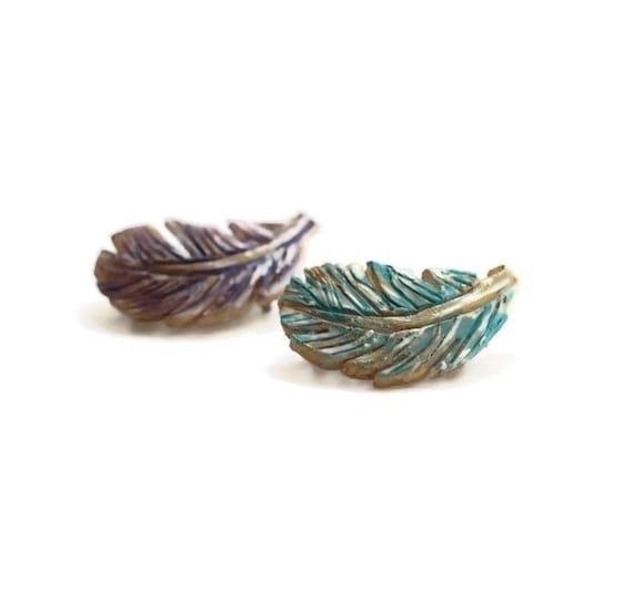 Mini Feather Hair Clip / Barrette