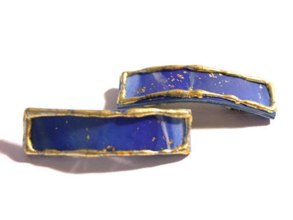 Deep Blue Small Hair Barrettes for Fine Hair, Small Hair Clips for Short or Long Hair