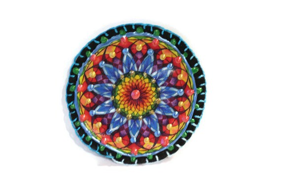 Sew On Applique, Applique for Shirts, Embroidered Applique, Boho Patch, Patch for Jeans, Clothing Patch, Mandala Applique, Unique Patches