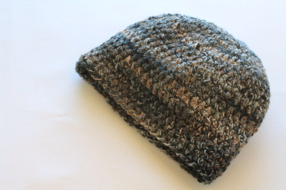 Man's Super Stretchy Watch Cap, Neutral Grays, Taupe and Black, Rolls Up to Fit in a Pocket