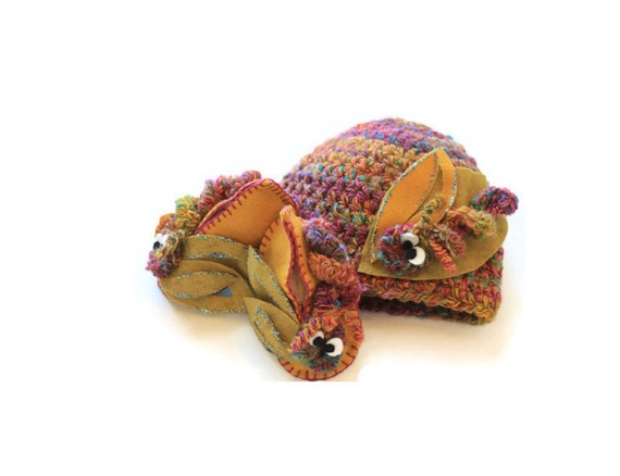 Baby Shoes | Baby Beanie | Gift Set | Hungry Caterpillar Hat | Baby Booties | Hat | Baby Accessories | Crochet | Organic Wool Felt | Babies