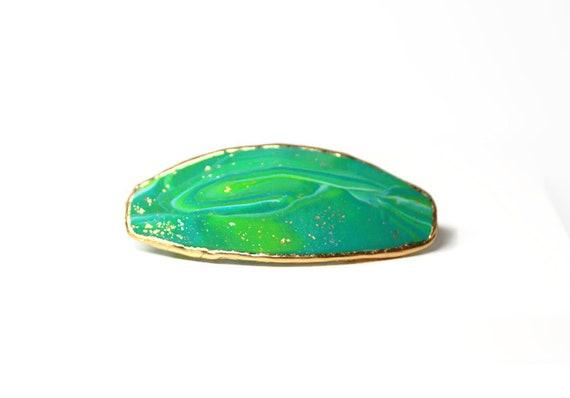 Mermaid Green Sea Hair Barrette, Sea Green Hair Clip