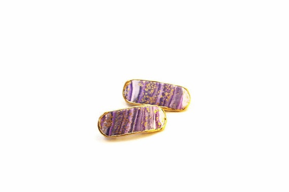 Purple Swirl Mini Clips