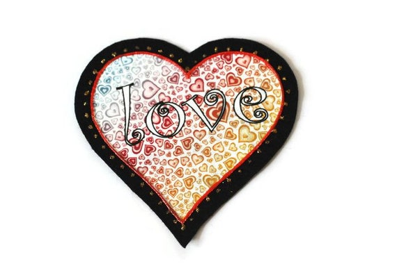 Hippie Heart Applique