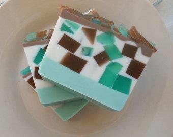 Moroccan Mint Soap/ glycerin soap/ Vegan Soap/ homemade soap/ handmade soap/ minty soap