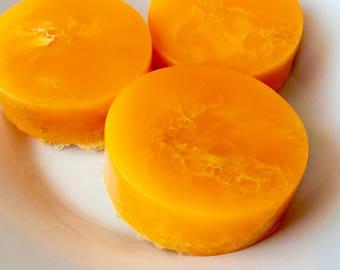 Mandarin & Bergamot Loofah Soap, Luffa soap, homemade soap, soap, soaps, exfoliating soap