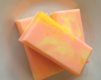 Mango Pineapple Homemade Soap, Stocking Stuffer, Small holiday gifts, handmade gifts, gifts for her,