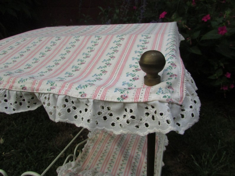VINTAGE Wrought Iron Baby Doll Canopy Bed. Fancy Wrought ...