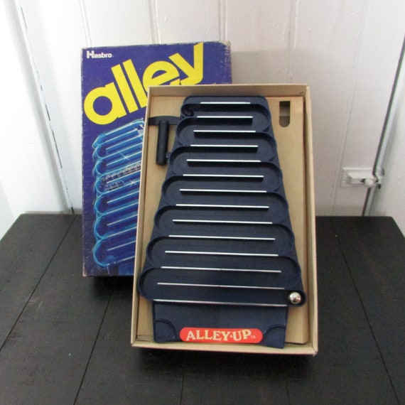 Alley Up Game by Hasbro  It's a Challenge to Roll the Marble Up Hill!  Complete In Original Box