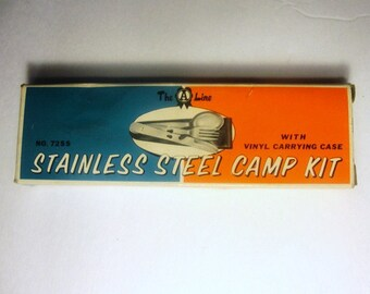 Stainless Steel Camp Kit and Box The A Line NO. 72 SS Camping Kit, Outdoors Eating