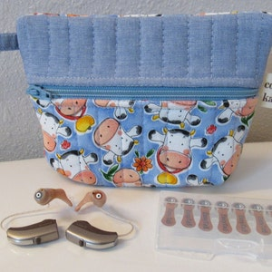 Jewelry Tote Hearing Aids Pouch Very Small Tote Water Resistant Bag Hearing Aids Accessories Bag Coin Purse Hearing Aids Travel Case