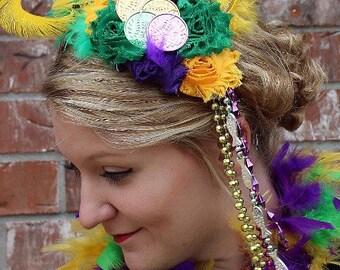 Mardi Gras Headpiece Etsy