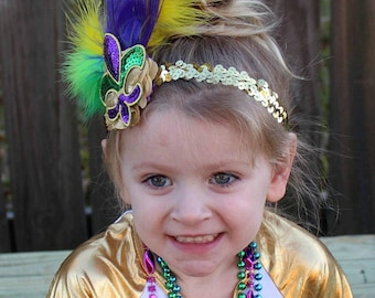 Mardi Gras Bow Etsy