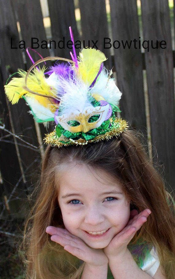 Mardi Gras Mini Top Hat Mardi Gras Headband  f68056667cf5