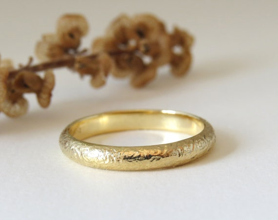 Patterened Wedding Band Wedding Band Women Unique Wedding Ring Thin Wedding Band Textured Wedding Band 14k Gold Wedding Ring Spiral