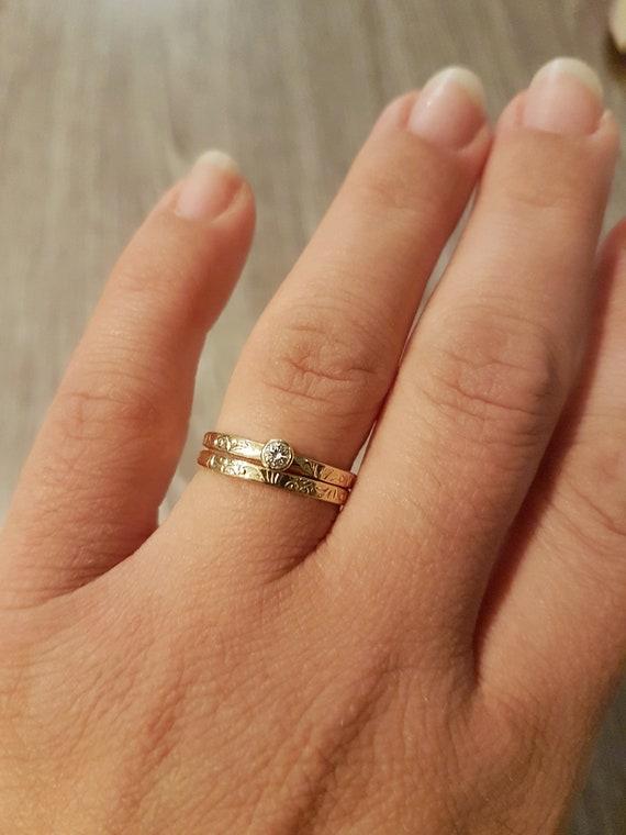 Matching Engagement Ring And Wedding Ring Set Bridal Set Etsy