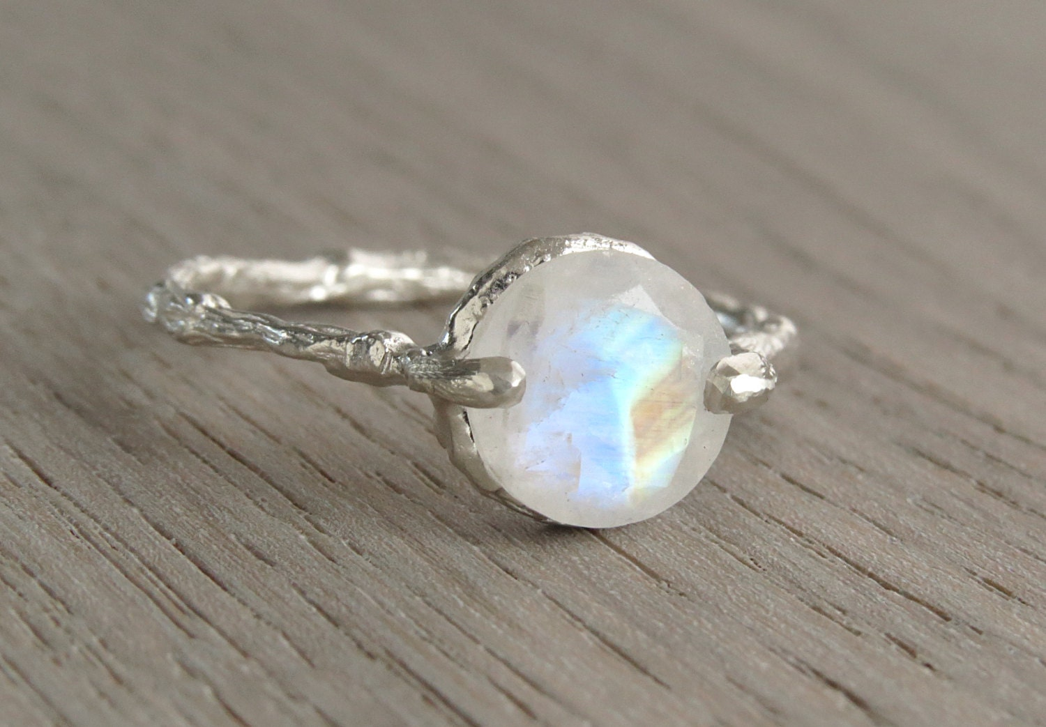 moonstone engagement ring twig engagement ring unique etsy