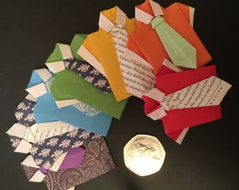 Rainbow. Origami shirts. Father's Day. Cards. Gift