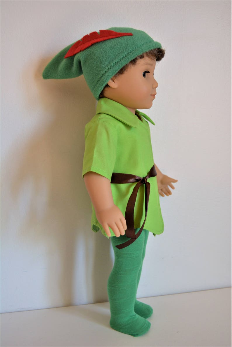 Handmade Doll Clothes Peter Pan Costume Fit 18 American | Etsy