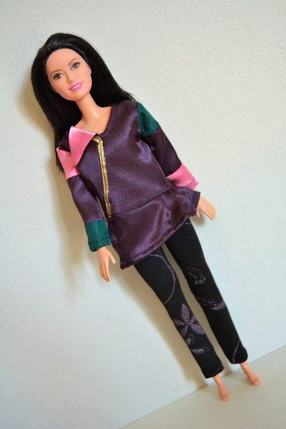 Handmade Doll Clothes Descendants Mal Costume fits 11 Barbie Girl Dolls