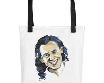 Loki white tote bag + handbag + Marvel + Avengers + Civil War + Villain + Infinity war + comic book + God of Mischief +