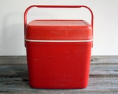 Vintage retro orange small esky chill cask