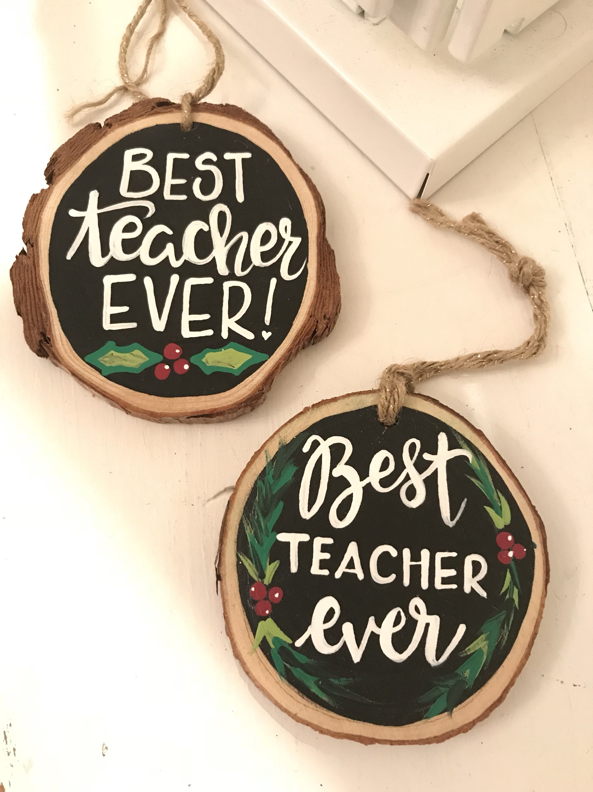 Teacher Ornaments Teacher Gift Best Teacher Ever Ornaments