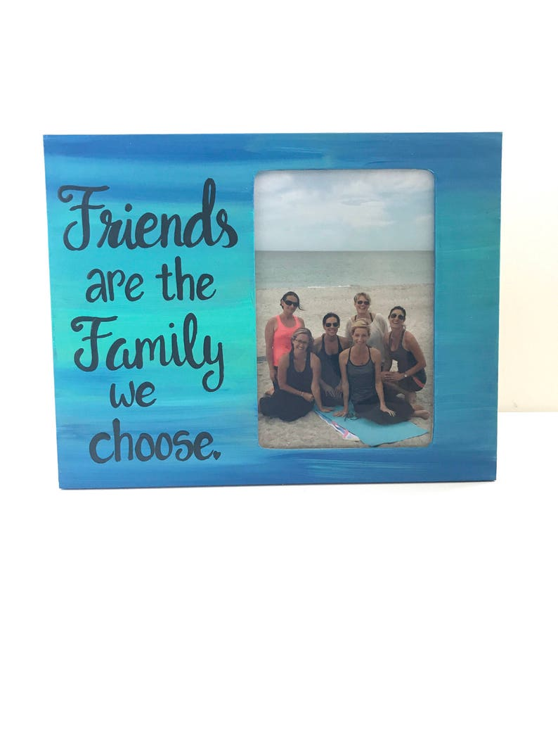 Hand-painted frame Custom Photo frame with quote Personalized Friend picture frame BFF gift Friends gift Made to order Gift for Friend