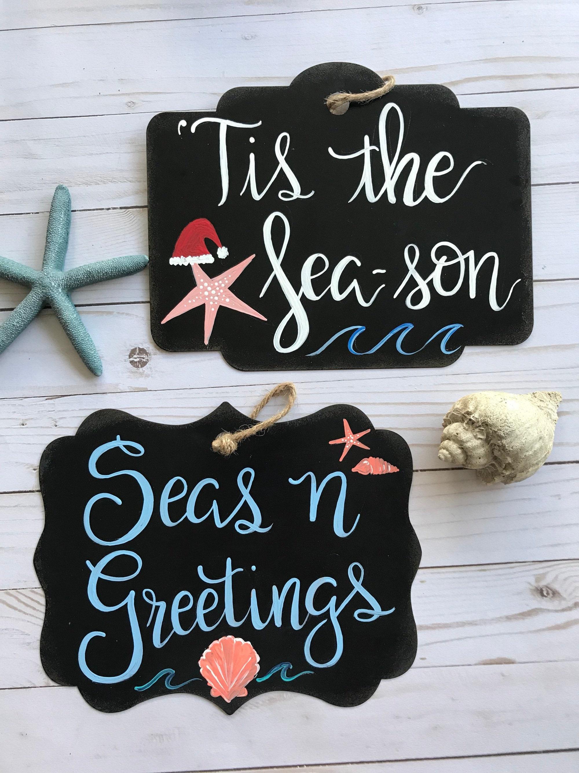 Beachy Christmas Sign Christmas Decor For A Beach House